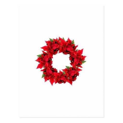 Guirnalda del navidad del Poinsettia Postal