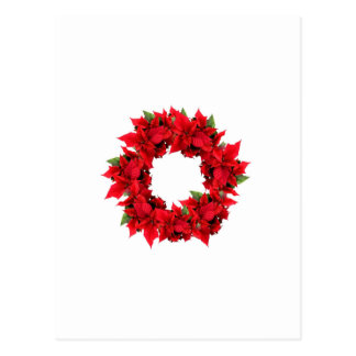 Guirnalda del navidad del Poinsettia Postales
