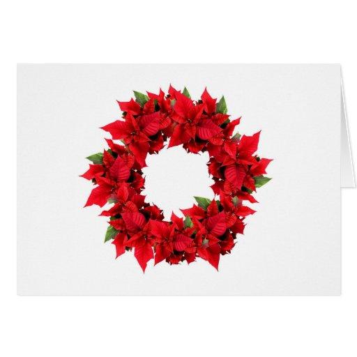 Guirnalda del navidad del Poinsettia Felicitaciones