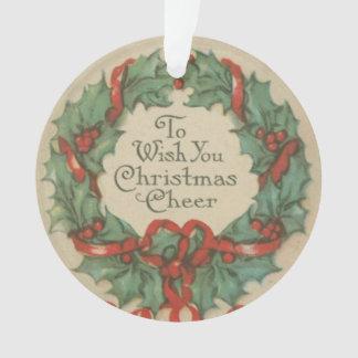 Guirnalda del navidad del vintage con deseos