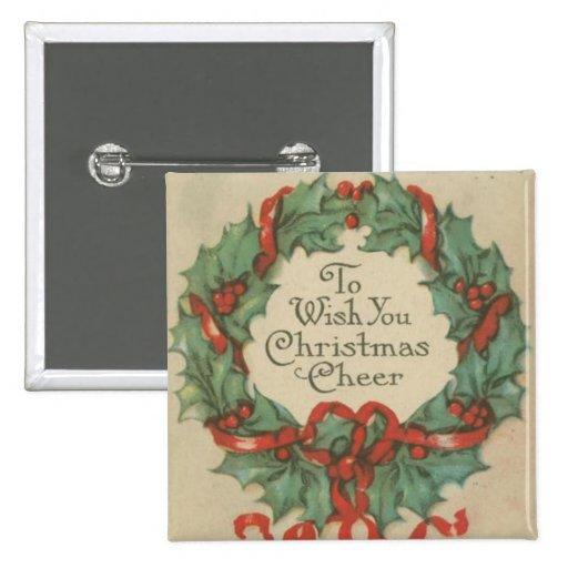 Guirnalda del navidad del vintage con deseos pin