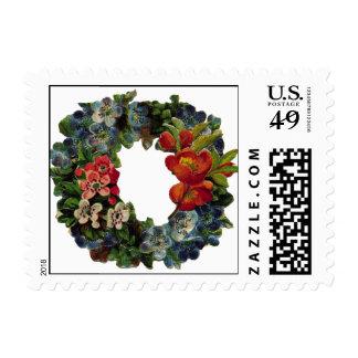 Guirnalda del navidad del vintage sellos