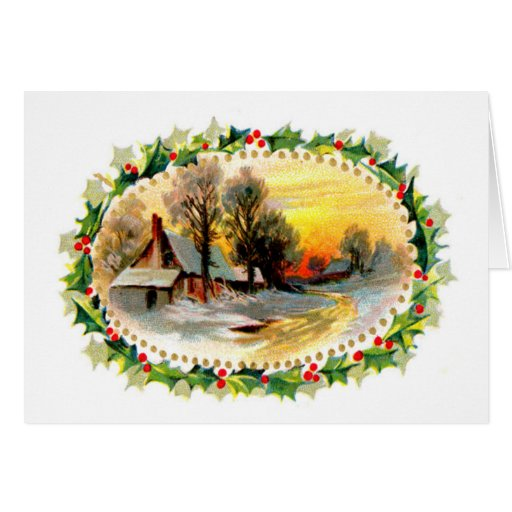 Guirnalda del navidad felicitación