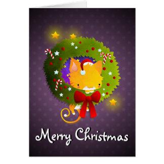 Guirnalda del navidad felicitaciones