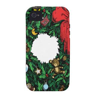 Guirnalda del navidad Case-Mate iPhone 4 carcasa