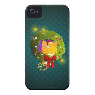 Guirnalda del navidad Case-Mate iPhone 4 coberturas