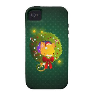 Guirnalda del navidad Case-Mate iPhone 4 fundas