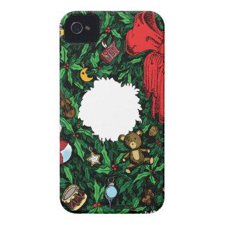 Guirnalda del navidad iPhone 4 Case-Mate cárcasa