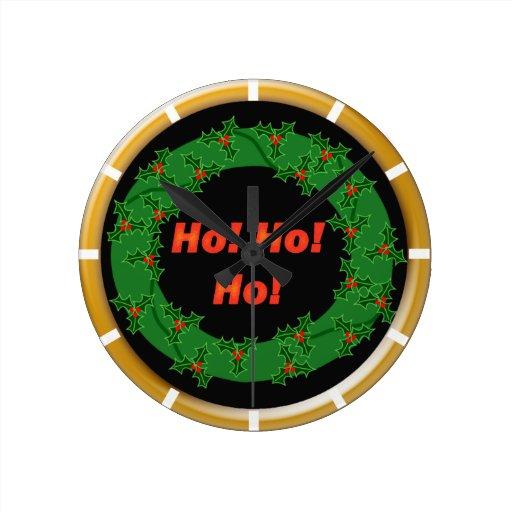 ¡Guirnalda del navidad Ho Ho Ho! Relojes