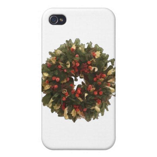 Guirnalda del navidad iPhone 4/4S carcasa