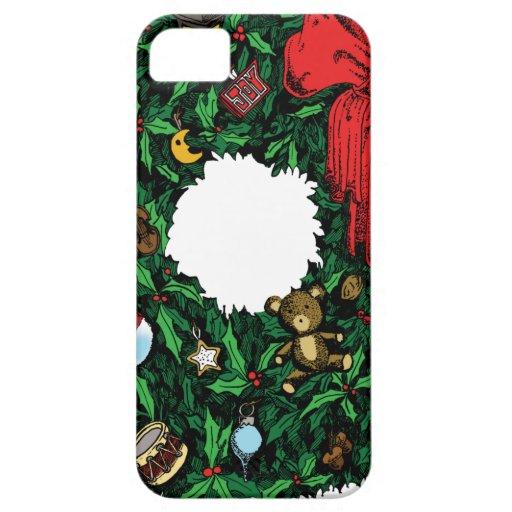 Guirnalda del navidad iPhone 5 carcasa
