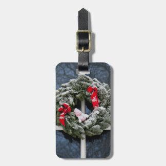 Guirnalda del navidad Nevado Etiquetas De Equipaje
