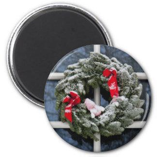Guirnalda del navidad Nevado Imán Para Frigorifico