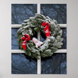Guirnalda del navidad Nevado Poster