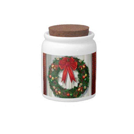 Guirnalda del navidad platos para caramelos