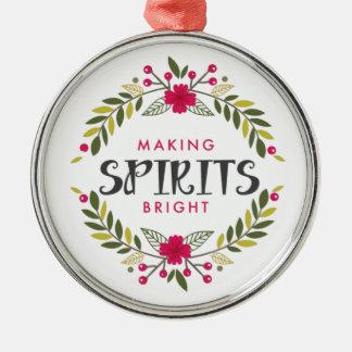 Guirnalda del navidad que hace bebidas espirituosa ornato