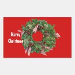 Guirnalda del navidad rectangular pegatinas
