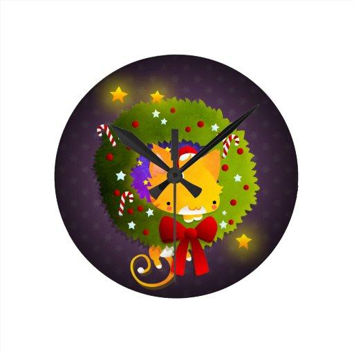 Guirnalda del navidad reloj