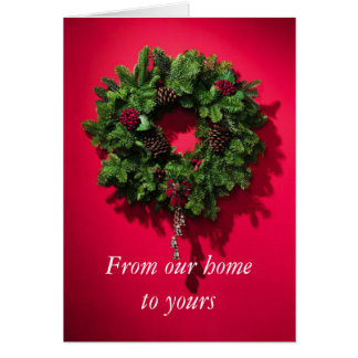 Guirnalda del navidad tarjeta