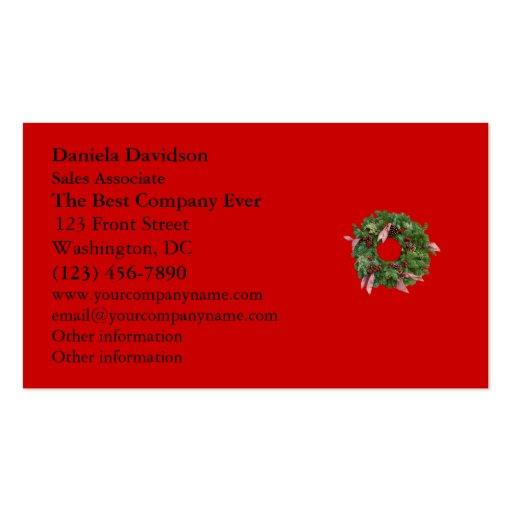 Guirnalda del navidad tarjetas personales