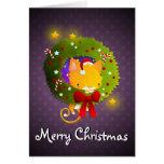Guirnalda del navidad tarjeta de felicitación