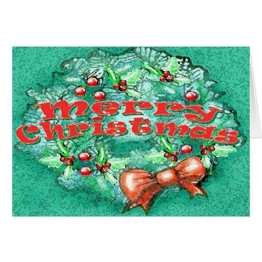 Guirnalda del navidad tarjetas
