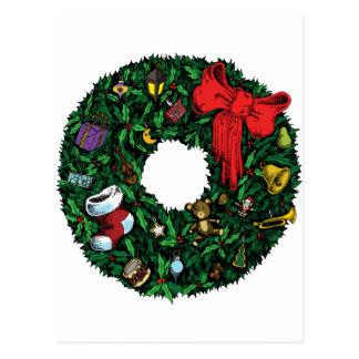 Guirnalda del navidad tarjetas postales