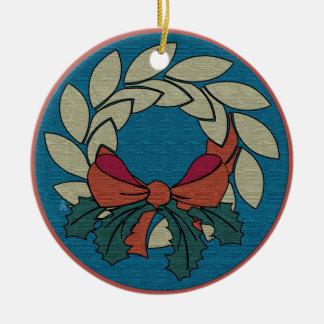 Guirnalda del navidad - textura de seda cruda adorno de navidad