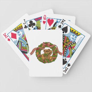 Guirnalda del oso de peluche del navidad baraja de cartas
