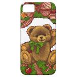 Guirnalda del oso de peluche del navidad iPhone 5 Case-Mate protectores