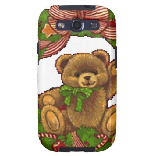 Guirnalda del oso de peluche del navidad galaxy SIII coberturas