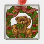 Guirnalda del oso de peluche del navidad ornatos