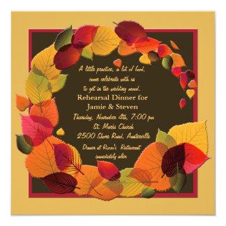 Guirnalda del otoño - invitación de la cena del