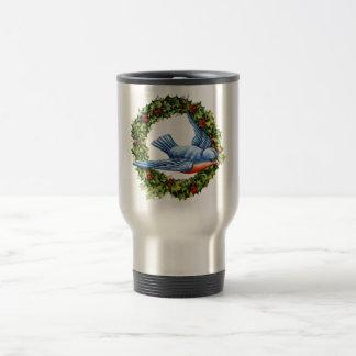 Guirnalda del pájaro del vintage taza de café