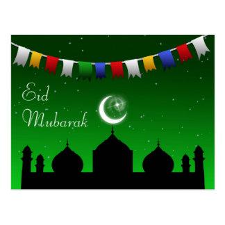 Guirnalda del Ramadán Eid - postal islámica