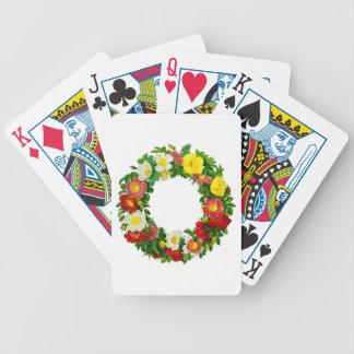Guirnalda del rosa de navidad de Pedro-José Redout Baraja Cartas De Poker