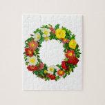 Guirnalda del rosa de navidad de Pedro-José Redout Puzzle