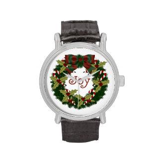 Guirnalda dulce de la alegría del navidad del día  relojes