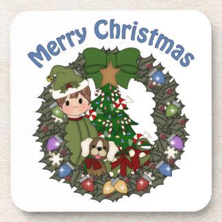 Guirnalda dulce del día de fiesta del navidad de L Posavasos De Bebida