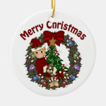 Guirnalda dulce del navidad de Little Boy Adorno De Navidad