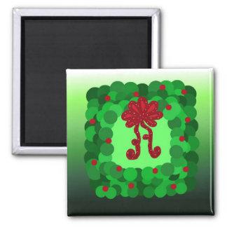 Guirnalda elegante del navidad iman para frigorífico