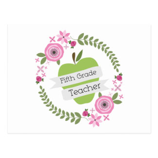 Guirnalda floral de Apple del quinto del grado ver Tarjetas Postales
