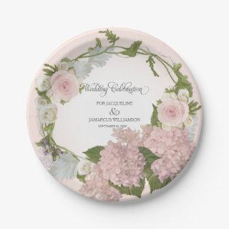 Guirnalda floral del Hydrangea bonito de la Platos De Papel