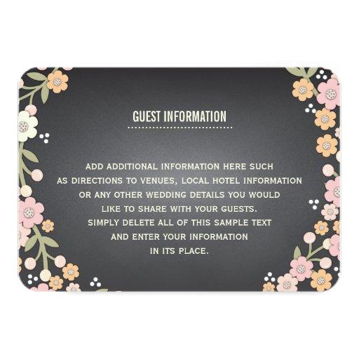 Guirnalda floral del jardín encantador que casa la invitación 8,9 x 12,7 cm