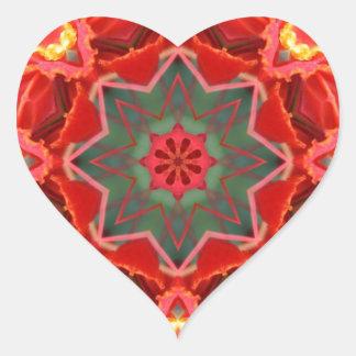 ¡Guirnalda floral! Pegatina En Forma De Corazón