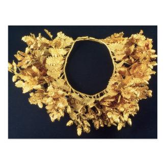 Guirnalda, Griego, fin del siglo IV A.C. (oro) Tarjetas Postales