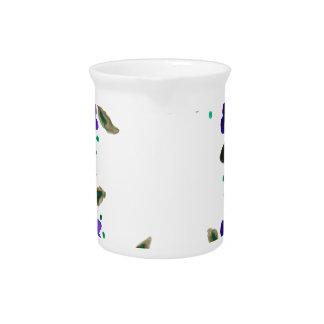 Guirnalda hermosa de la acuarela de flores jarra de beber