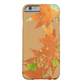 Guirnalda japonesa de las hojas de arce del oro de funda barely there iPhone 6