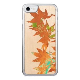 Guirnalda japonesa de las hojas de arce del oro funda para iPhone 7