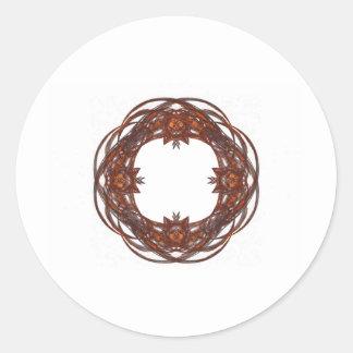 Guirnalda marco del arte del fractal etiquetas redondas